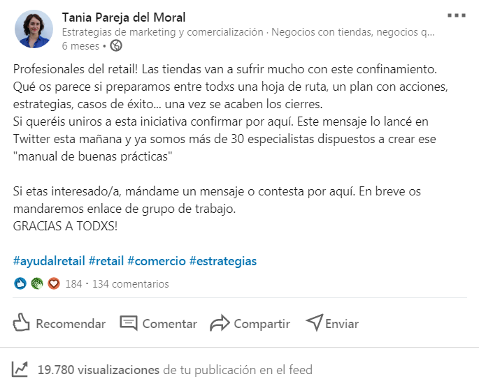 allretail_post apoyo al comercio en Linkedin_marketing&negocios